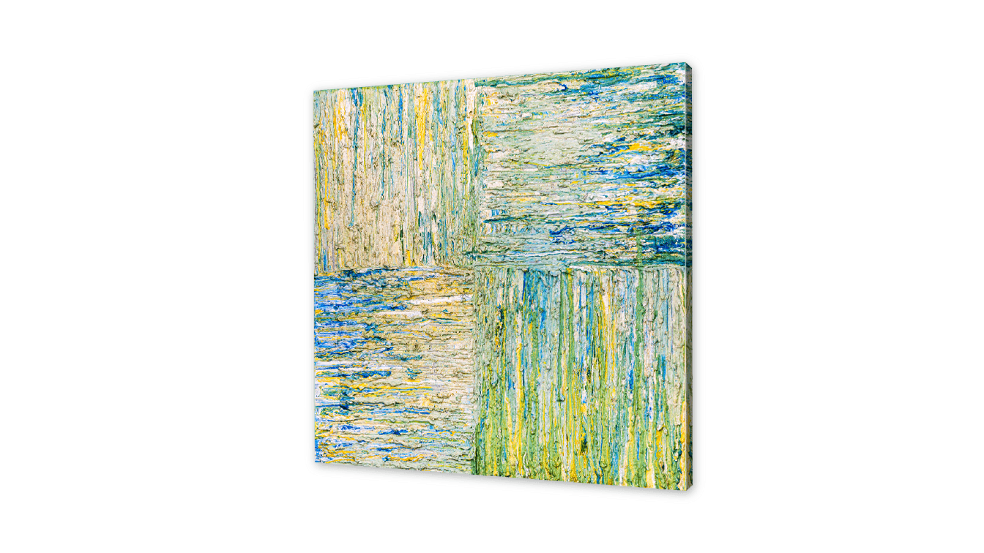 abstract art prints green for home